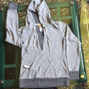 Lucy hoody, new, , grey on grey. Zip up V. Grey